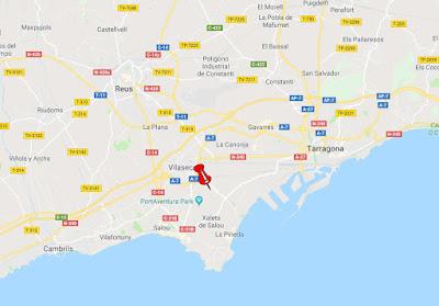 Mapa amb la ubicació de la Torre d'en Dolça
