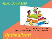 Pekan Minggu Ceria: Optimalisasi Kemampuan Literasi Dasar (Rabu, 13 Mei di UPTD SDN Ratujaya 1)