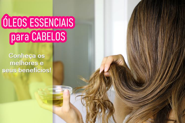 Óleo essencial para cabelo
