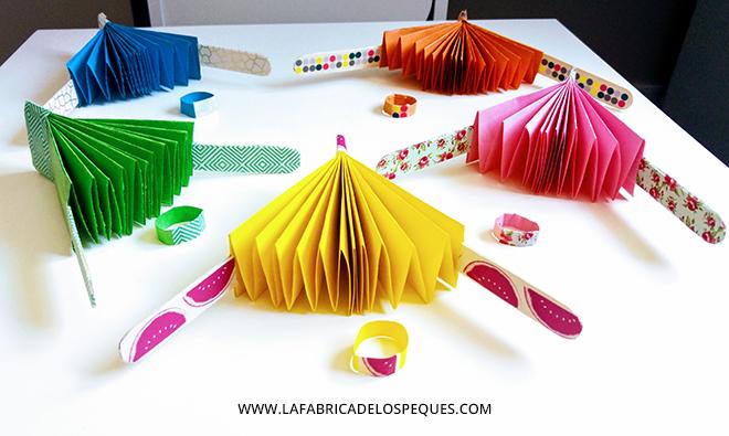 manualidades infantiles abanicos de papel la f brica de On manualidades con folios de papel