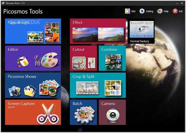تحميل برنامج التأثيرات للصور مجانا للكمبيوتر Picosmos Tools 1.13