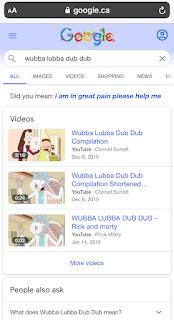L'Oeuf de Pâques Wubba Lubba Dub Dub