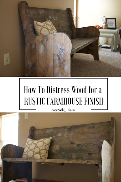 Distressing Wood for a Rustic Farmhouse Look