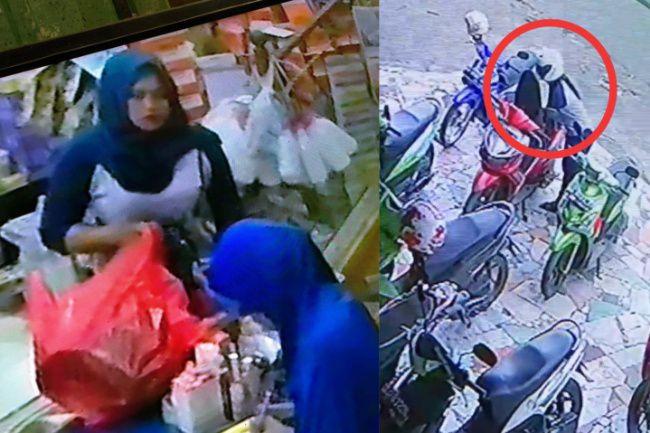 Wanita Cantik di Bone Terciduk CCTV Mencuri Di Toko Kosmetik