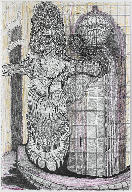 Robbie Cornelissen The Dance, 2019 (colour)pencil on paper 28 x 19 cm