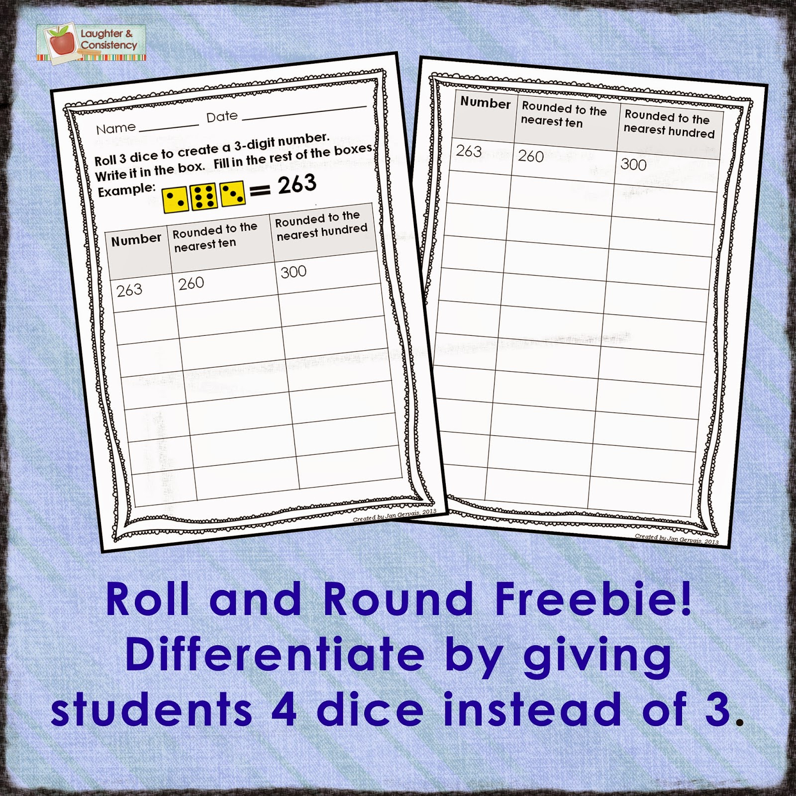 Laughter And Consistency 3rd Grade Place Value With Freebies