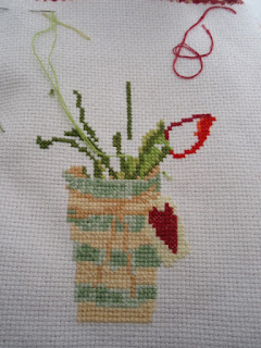 Cross stitch - Vase of Tulips