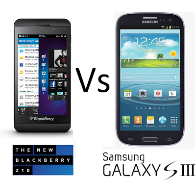 Komparasi Samsung Galaxy S3 Vs Blackberry Z10