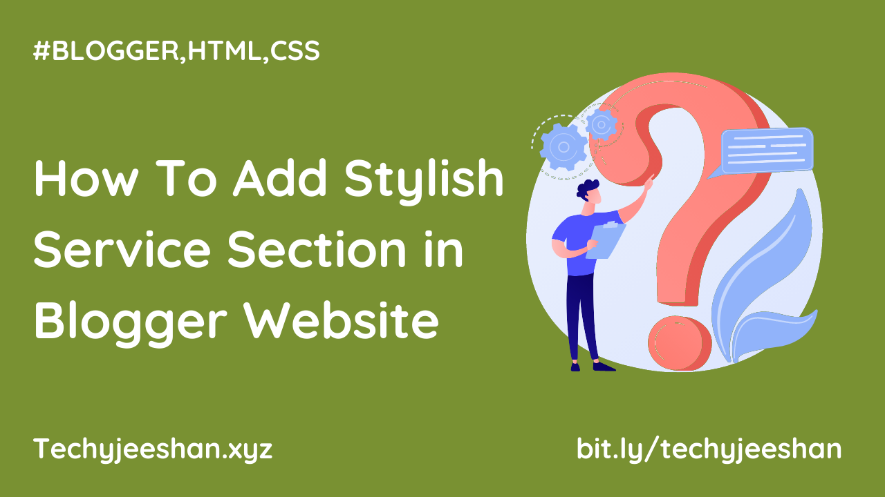 How To Add Stylish Service Section in Blogger Website