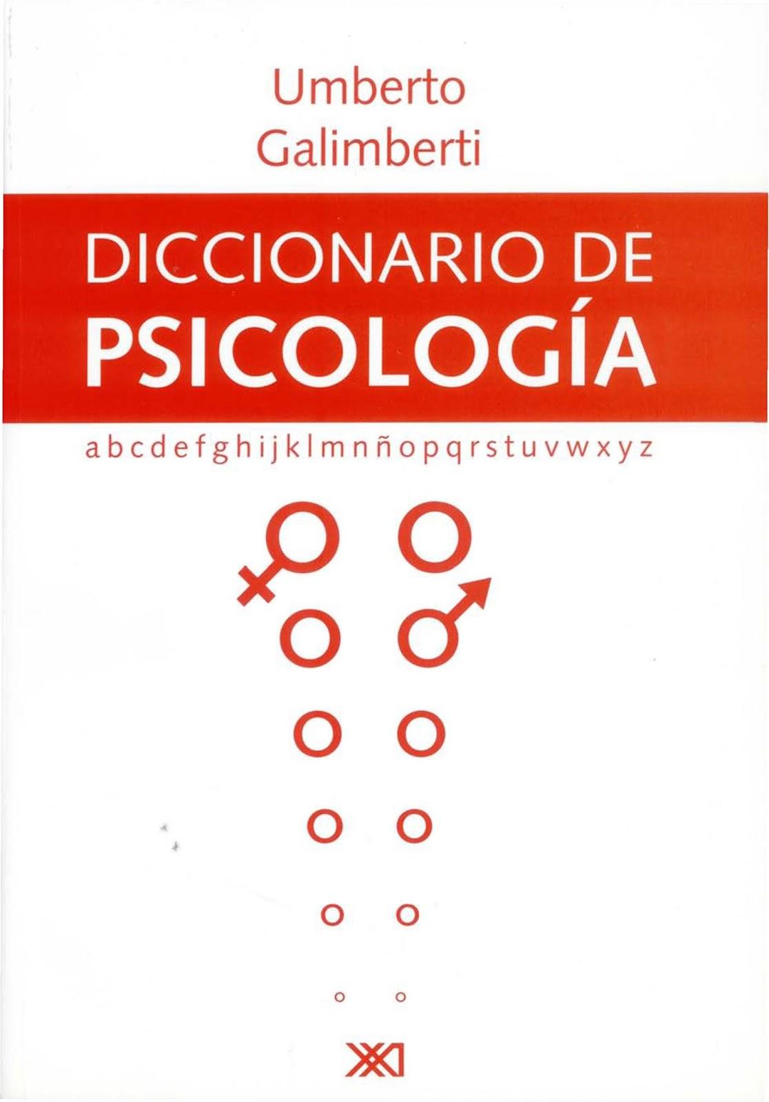 Diccionario de psicología – Umberto Galimberti