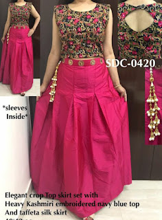 crop top designs for lehenga