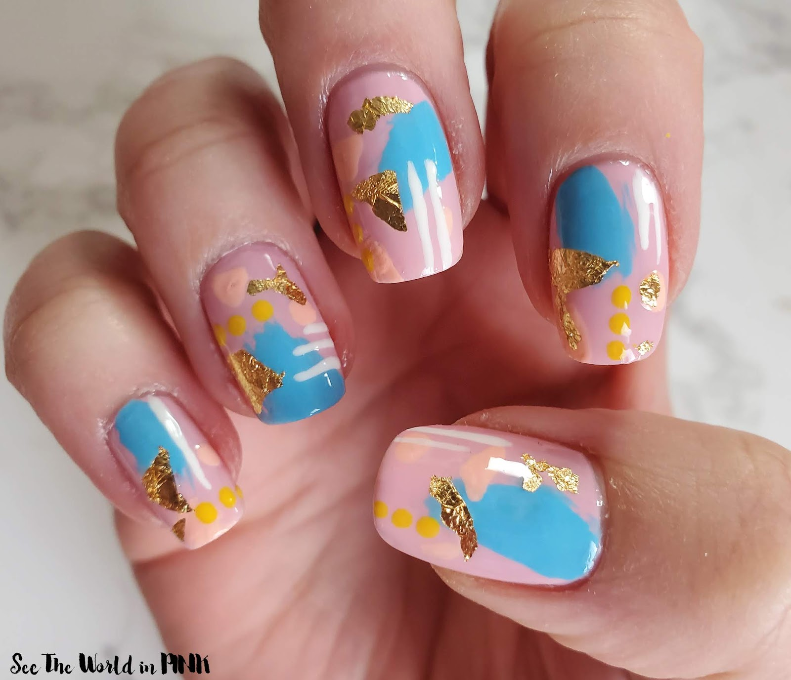 Manicure Monday - Pastel Abstract Nail Art