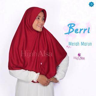 Hijab Alsa Berri Merah Marun
