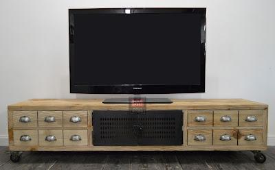 Banc TV bois et métal