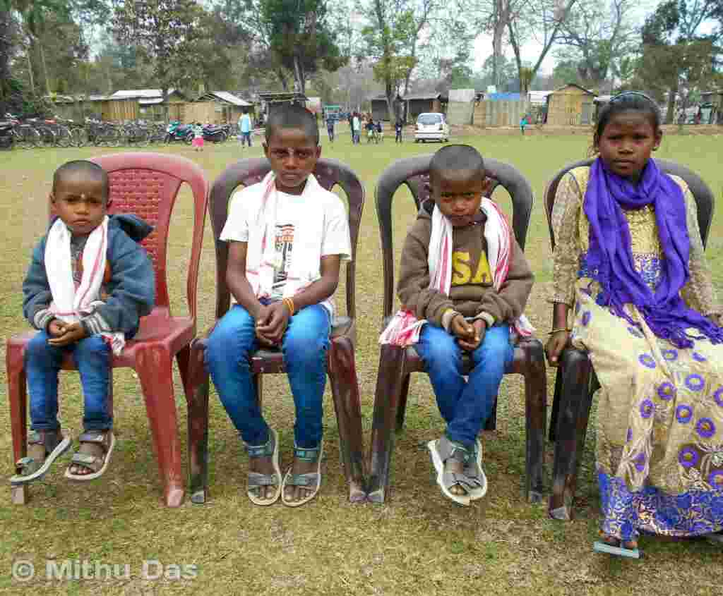 Children who lost their parents in Assam hooch tragedy