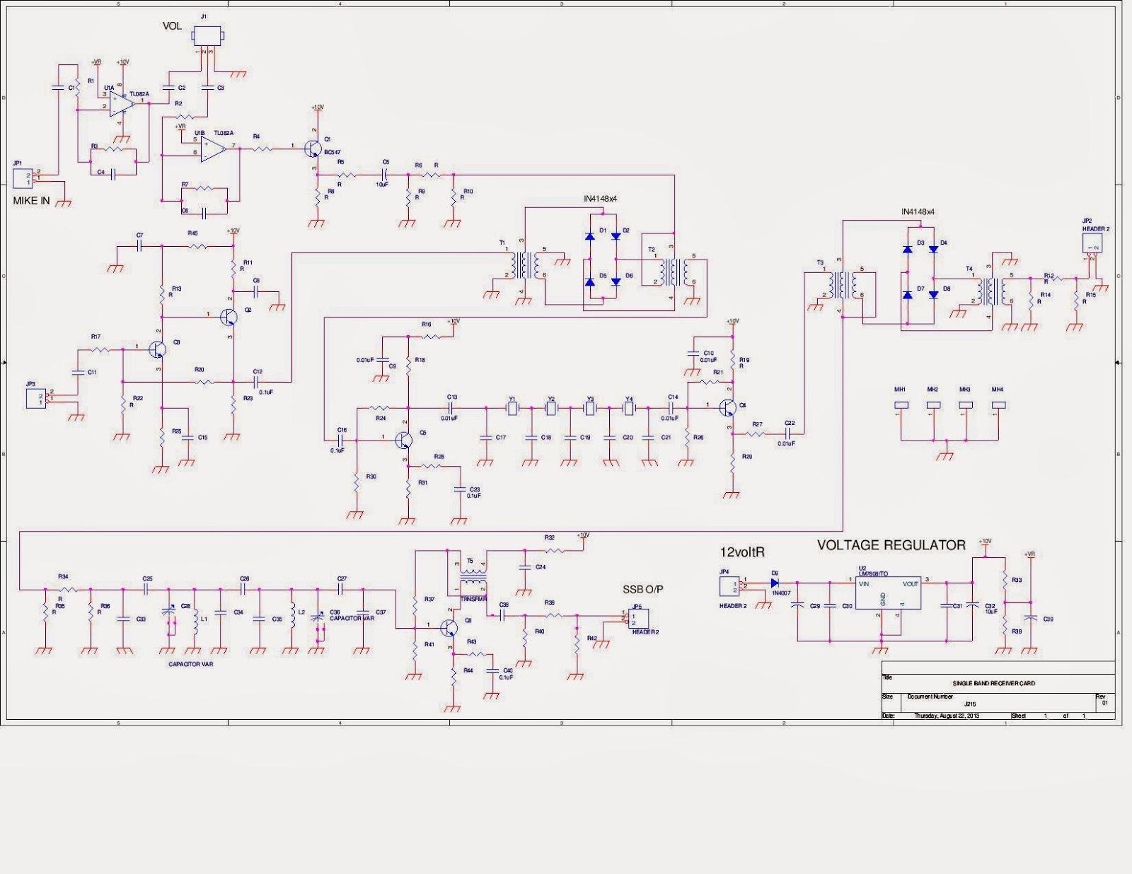 Ham Radio Mipl Sb 7 Transceiver Tx Schematic