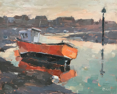 #256 'Pheonix, Emsworth Harbour' 24x30cm