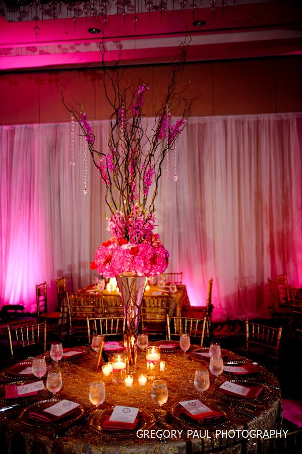 Jennifer J Events Fuchsia And Gold Indian Wedding At The