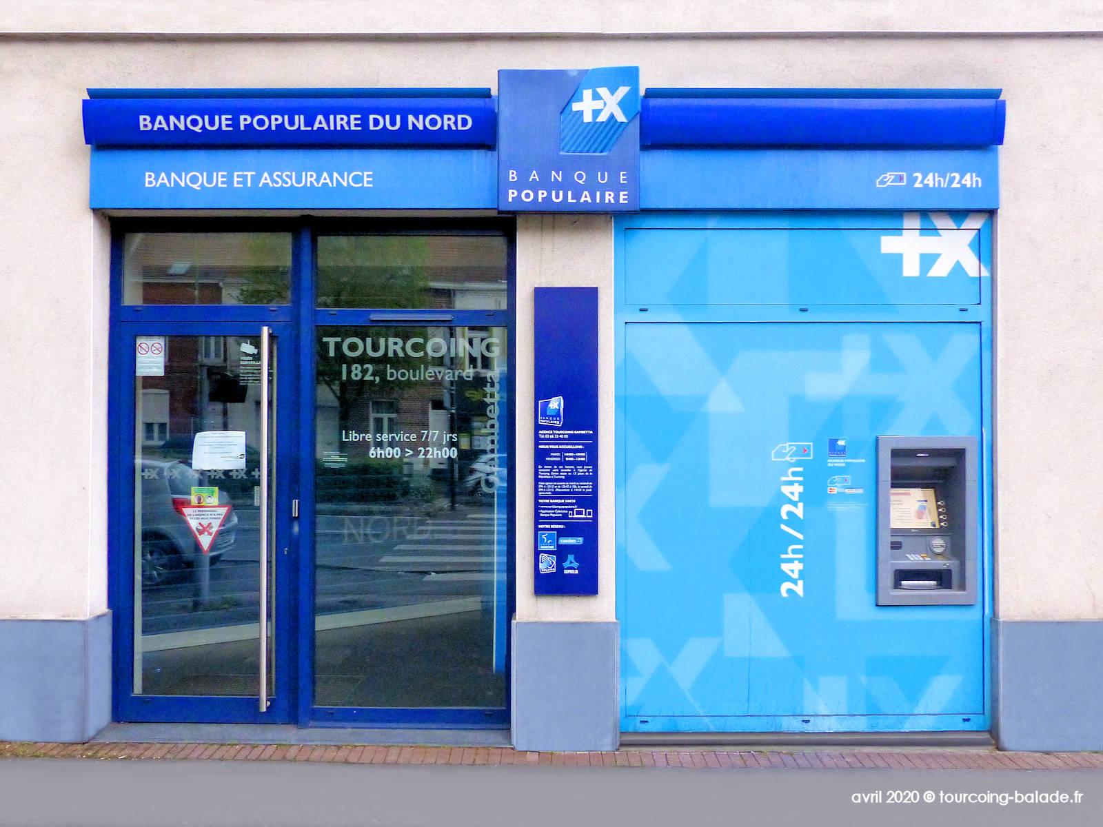 Distributeur Banque Populaire Gambetta, Tourcoing - 2020.