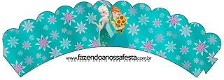 Wrappers para cupcakes de Frozen Fever.