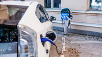 Electric car charge (Credit: Shutterstock) Click to Enlarge.