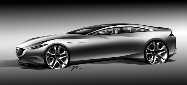 Mazda e il Kodo design di Ikuo Maeda - Shinari Exterior Sketch.