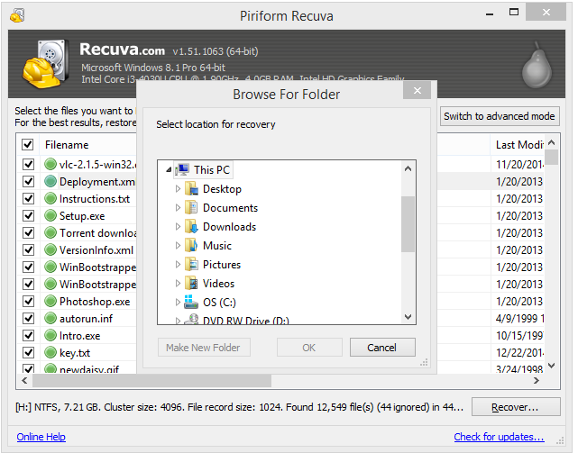 Recuva Data Recovery is a powerful program that recovers files deleted from your Windows computer, Recycle Bin,  digital camera card or MP3 player. It can be used whether you need to recover priceless photographs from your  digital camera's memory card, files you backed up to an...