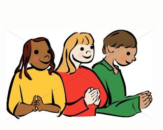 niños orando
