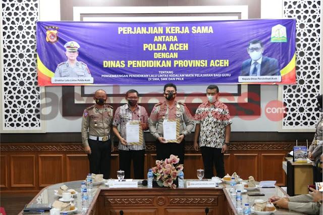 Dinas Pendidikan Aceh Lakukan Kerjasama Dengan Polda Aceh Terkait Pengembangan Pendidikan Lalu Lintas