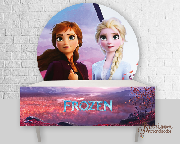 Frozen, painel, saia, painel redondo, frozen II, frozen 2, arte digital, kit digital, arte personalizada