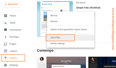 How to Put AdSense in Blogger Post Footer 1