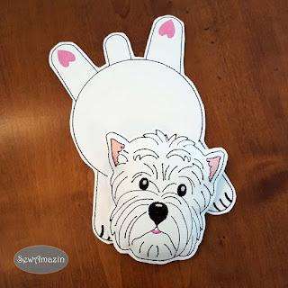 West Highland Terrier Drink Mat, Coaster, Mug Rug