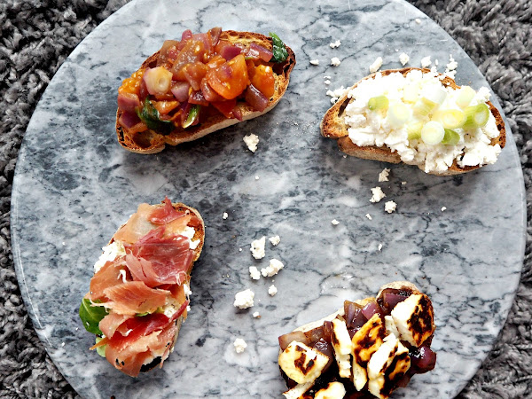 RECIPE: BRUSCHETTA - FOUR WAYS
