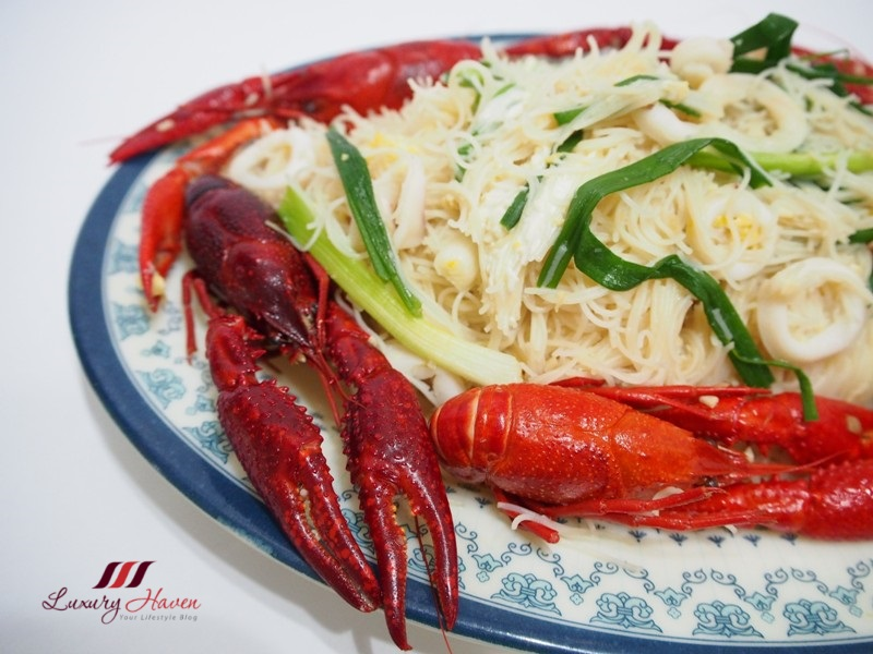 white bee hoon crawfish aka baby lobsters recipe