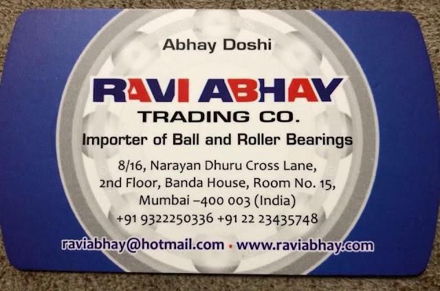 RAVI ABHAY TRADING CO. - 9322250336