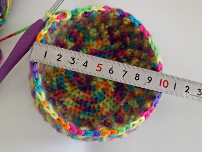 Rainbow Bright Crochet Coin Purse Free Pattern