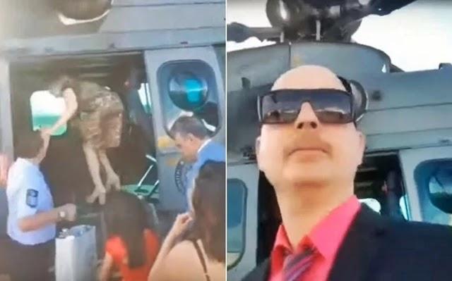 Familiares do presidente Jair Bolsonaro usaram um helicóptero da Força Aérea Brasileira (FAB) para ir ao casamento de Eduardo Bolsonaro, em 25 de maio deste ano, no Rio.