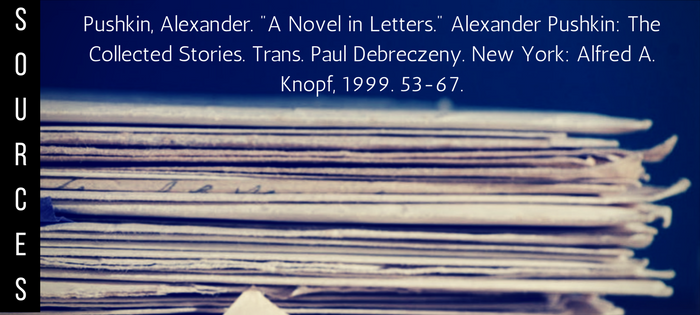 Summary of A Novel in Letters Sources