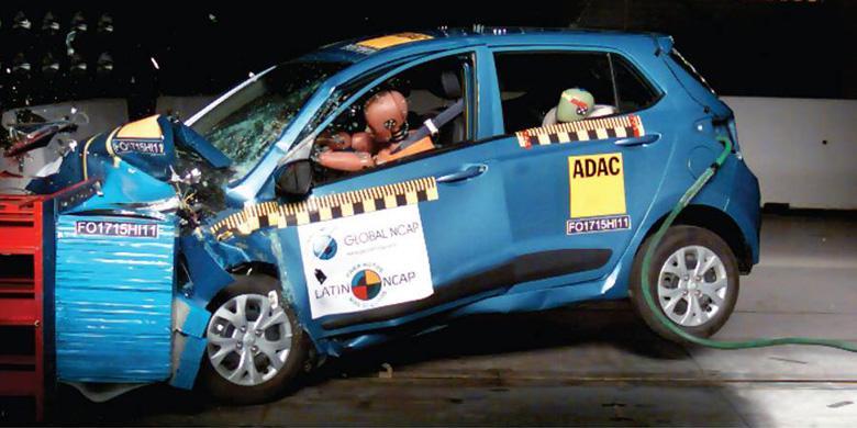 Uji Tabrak Grand New Avanza Innova Venturer 2018 Dunia Otomotif Update Hyundai Ringsek Dalam Oleh Latin Ncap Mobil Harus Menelan Pil Pahit Karena Model I10 Yang Diikutsertakan Mendapatkan Hasil Buruk