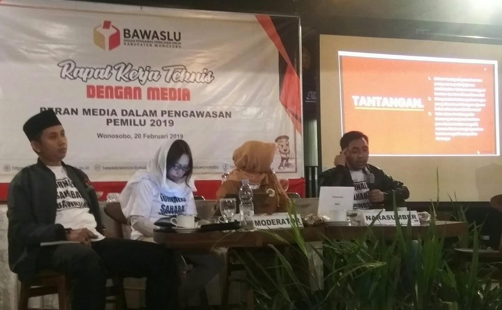 Bawaslu Wonosobo Ajak Komunitas Jurnalis Berperan Dalam Pengawasan Pemilu 2019