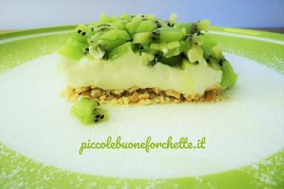 foto Ricetta cheesecake al kiwi per bambini