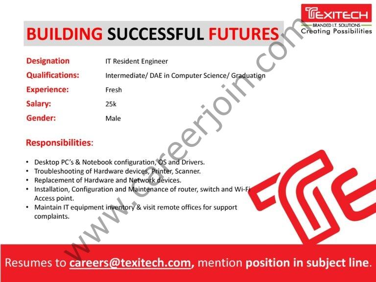 careers@texiech.com - Texitech Jobs 2021 in Pakistan