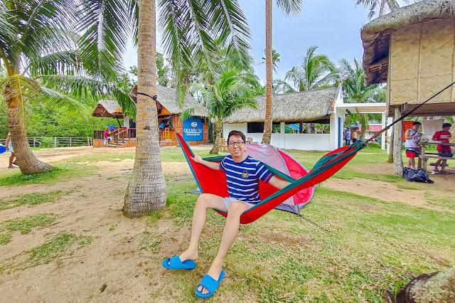 Hammocks in Calilayan Cove, Unisan Quezon