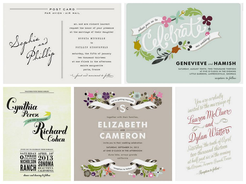 Wedding Invitation Giveaway: Postcards And Pretties: {giveaway} Wedding Invitations