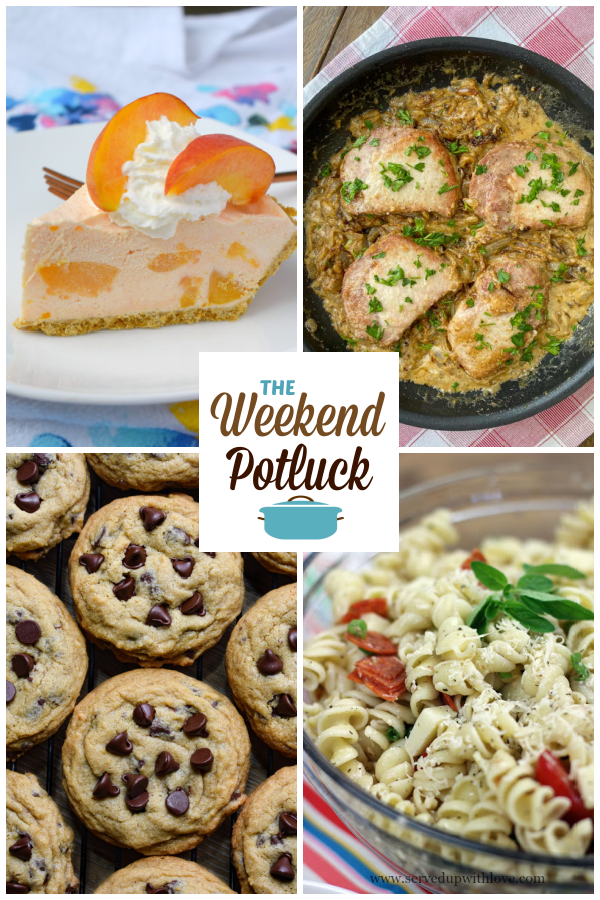 A virtual recipe swap with Fuzzy Navel No Bake Cheesecake, Farmhouse Smothered Pork Chops, The Best Chocolate Chip Cookies, Pizza Pasta Salad and dozens more!