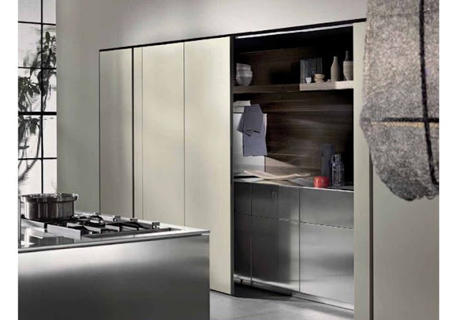 hidden kitchens behind sliding door