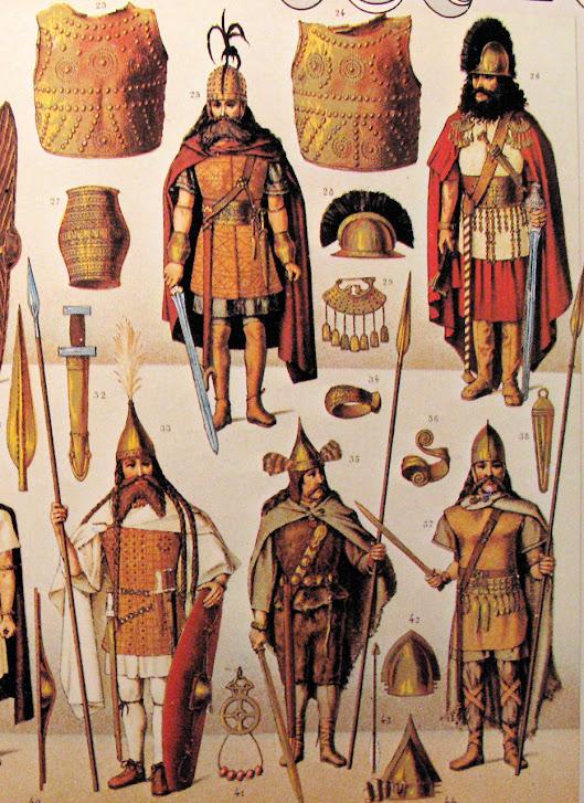 Ds bárbaros, povos desarmônicos, diferentes ou opostos, só podia resultar o desabamento geral