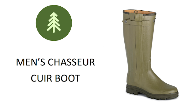 Le Chameau Chasseur Cuir Men's Wellington Boot