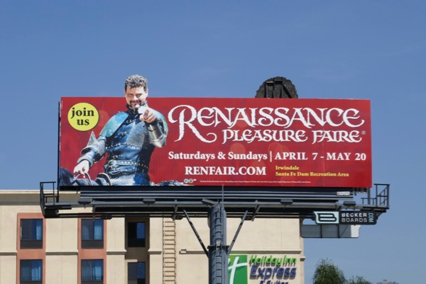 Renaissance Pleasure Faire 2018 billboard
