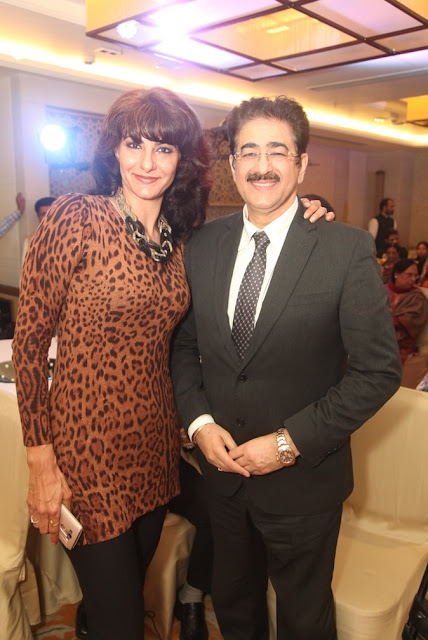 Jasmine Bhatti with Mr. Sandeep Marwah, Founder of Noida Film City.-